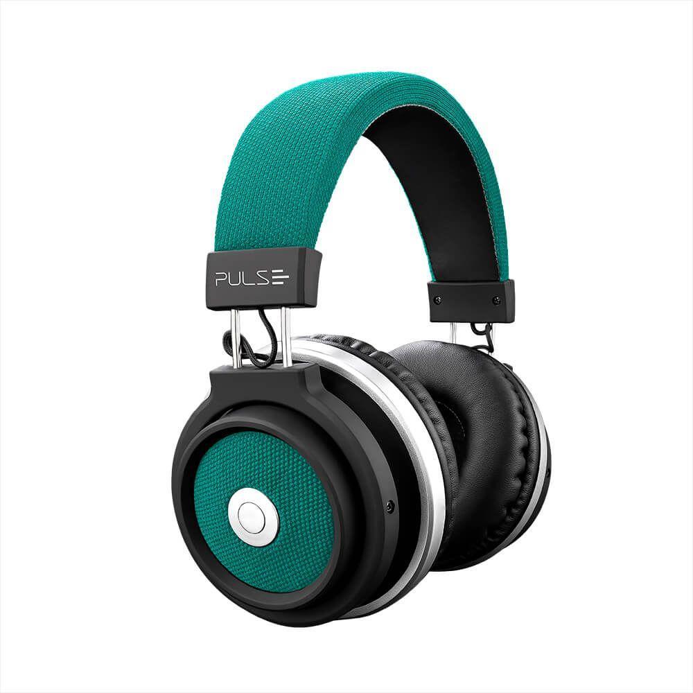Fone de Ouvido Headphone Bluetooth Large Verde Pulse Sound Ph231