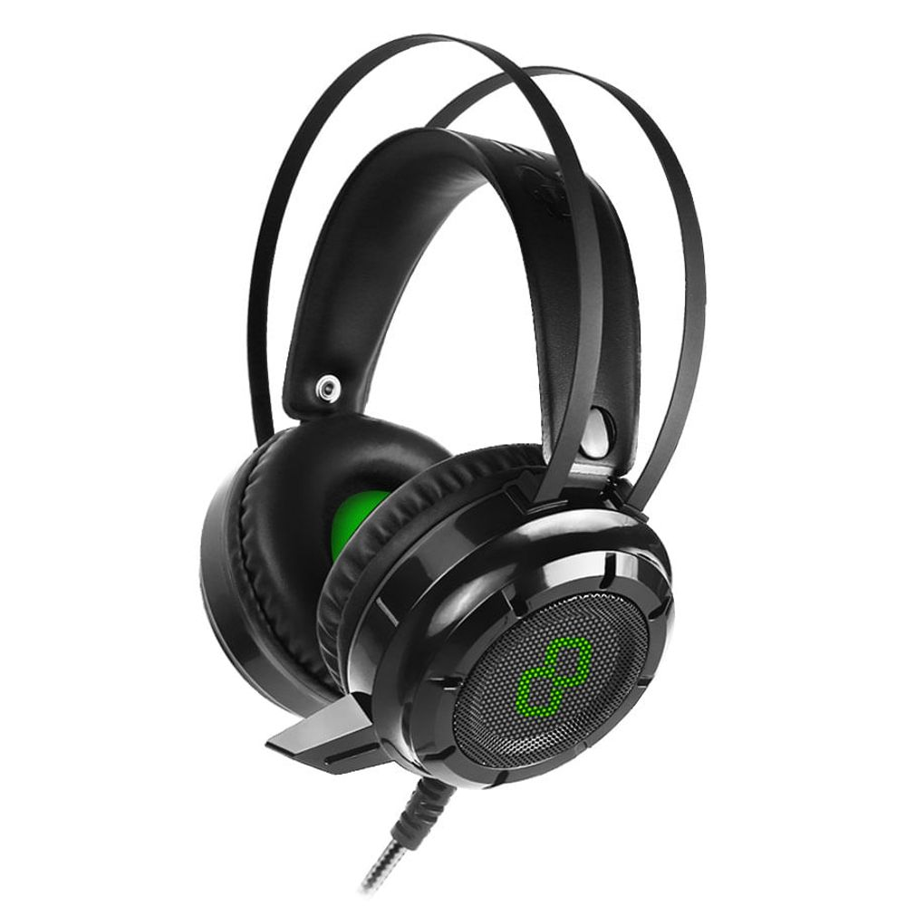 Fone de Ouvido Headphone Gamer Gt Luminous 7.1 Preto Goldentec