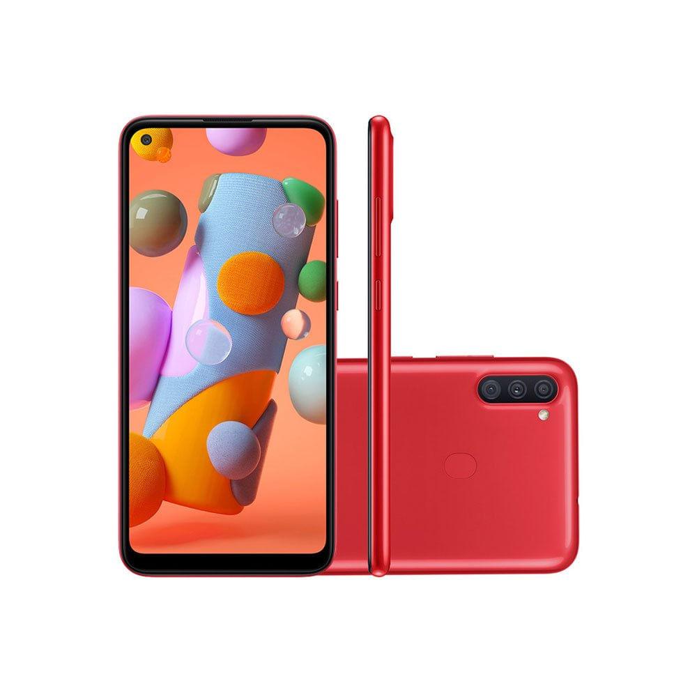 Celular Smartphone Samsung Galaxy A11 A115m 64gb Vermelho - Dual Chip