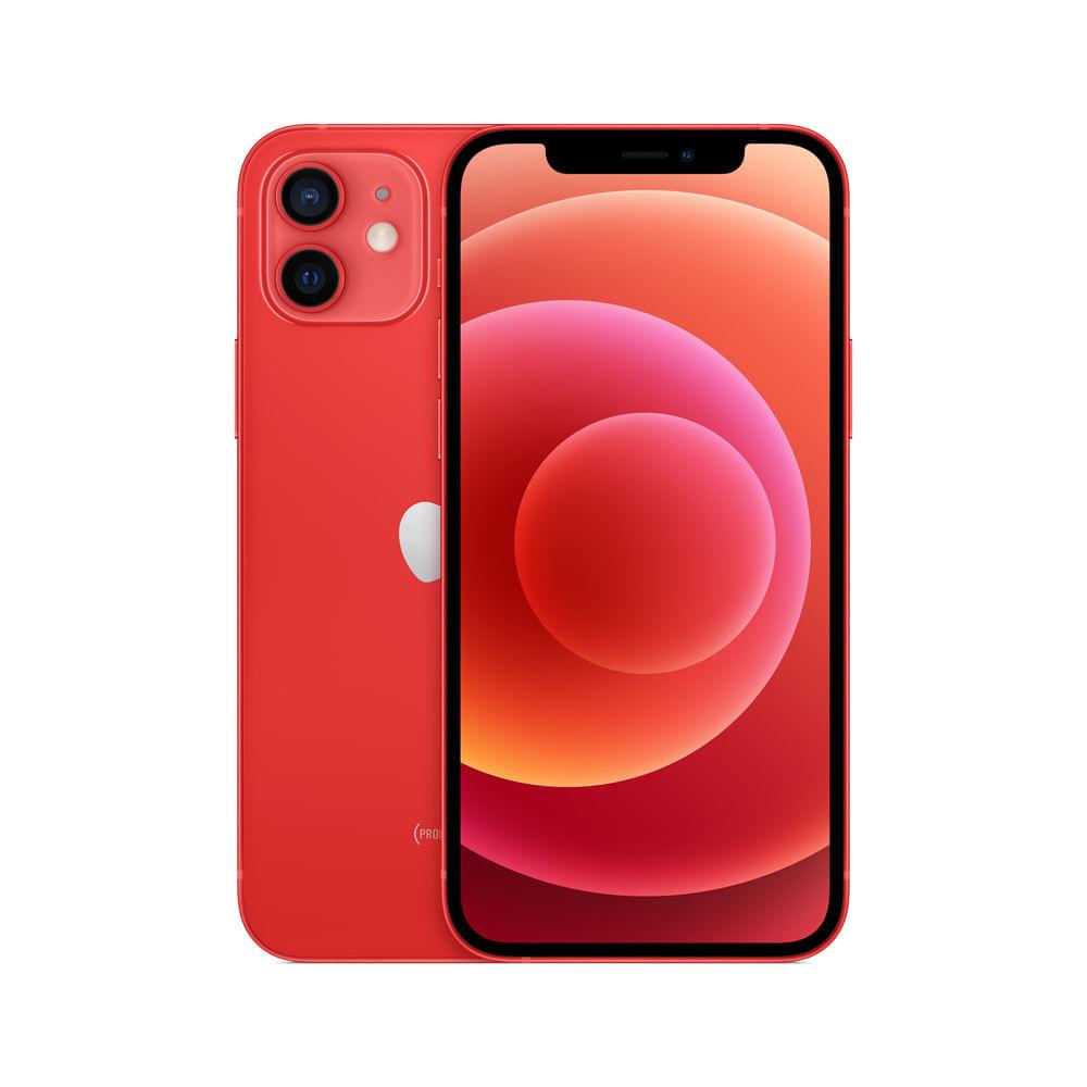 Celular Smartphone Apple iPhone 12 256gb Vermelho - 1 Chip